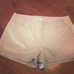 J Crew Chino Shorts, Khaki, 100% cotton, Size 2
